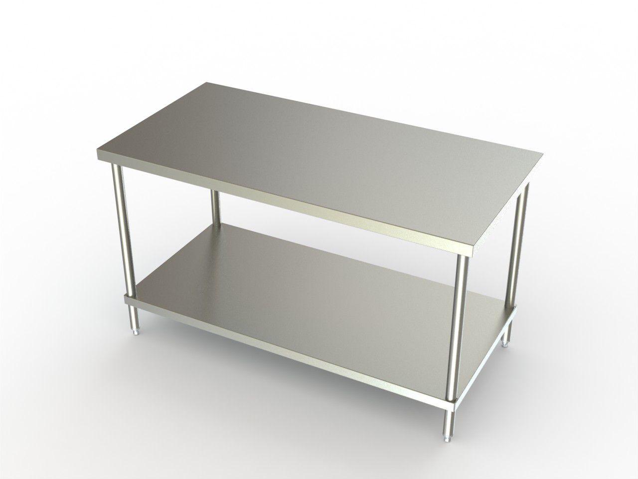 aero work tables with stainless steel shelf w shelf 30x60x35 each