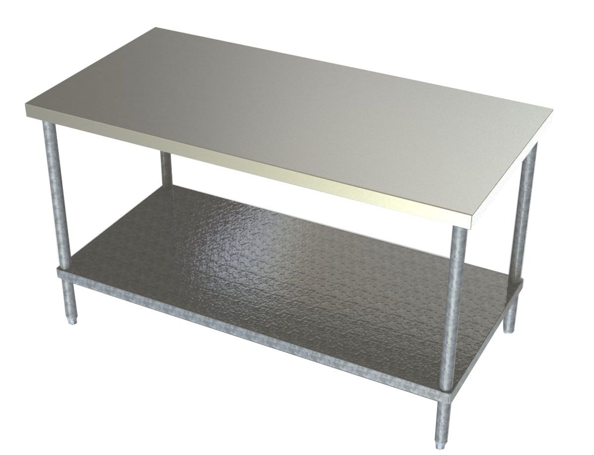 Aero Manufacturing Work Tables With Stainless Steel Shelf