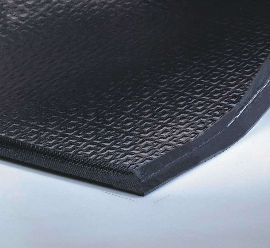 Andersen Mat Happy Feet Anti Fatigue Mat Texture Top Black 3x5ft Each Model 480 3x5