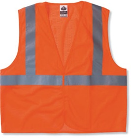 ANSI Class 2 High-Visibility Vest - Glow Wear, Econo Class 2, Orange, Sm, Each