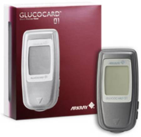 Arkray USA Glucocard Blood Glucose Meter, 7 Seconds Stores Up To 360 Records - Model 740001
