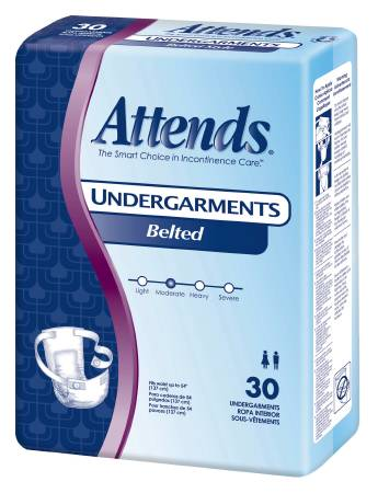 Attends Belted Undergarment 28 Inch, Pkg of 30 - Model BU0600