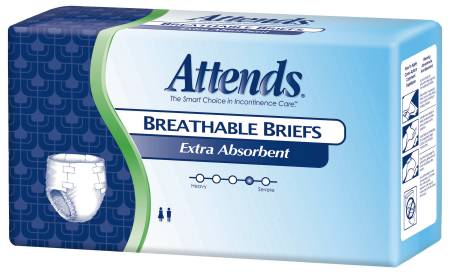 Attends Brief 32-44 Inch Medium Extra Absorbency, Pkg of 96 - Model BRBX20