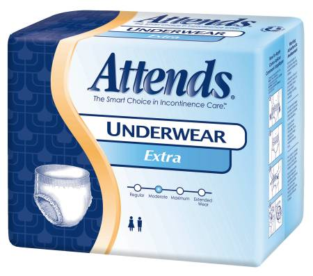 Attends Underwear, 58-68 Inch X-Large White Regular, Pkg of 56 - Model APV40