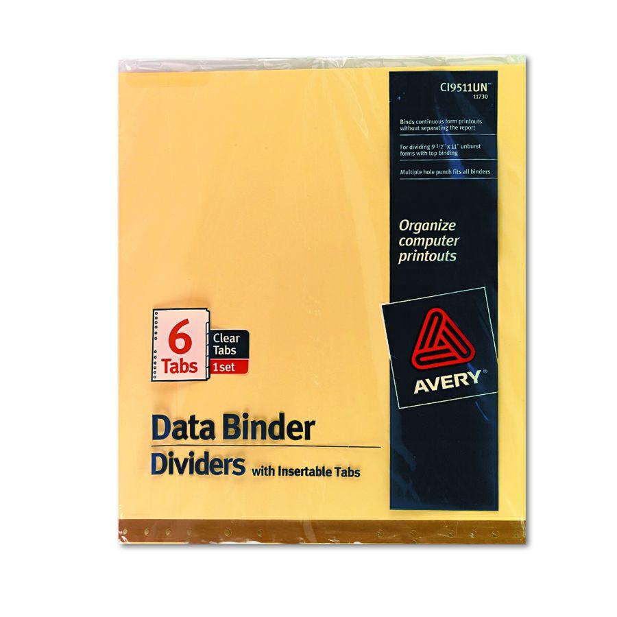 avery dennison data binder tab divider index edp binder 14 8x11
