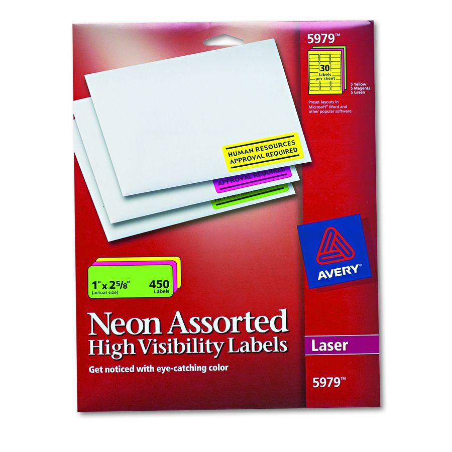 avery dennison high visibility label lsr flas pack of 15 model