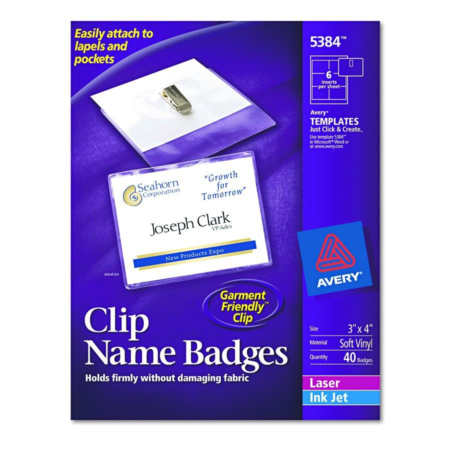 Avery dennison name badge holder nmetag w clip box of 40 all images are supplied to us by the manufacturers and may not represent the specific product you are ordering this product may differ in color features pronofoot35fo Choice Image