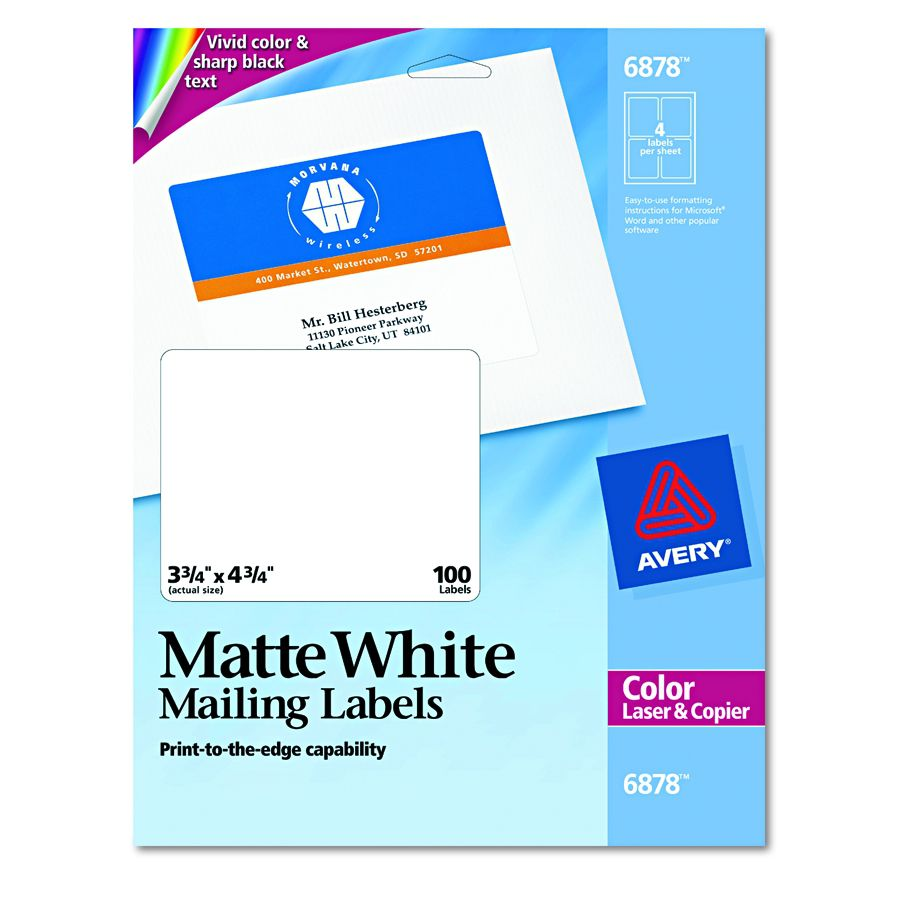 avery dennison labels templates - avery dennison print to the edge label lsr clr prnt 4up