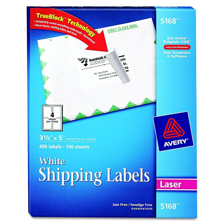 avery 5168 label template - avery dennison shipping label laser 8 5x11 we pack