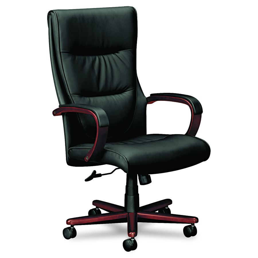 Basyx Executive High-Back Chair - Hi Back, Mah/Bk, Each - Model VL844NSP11