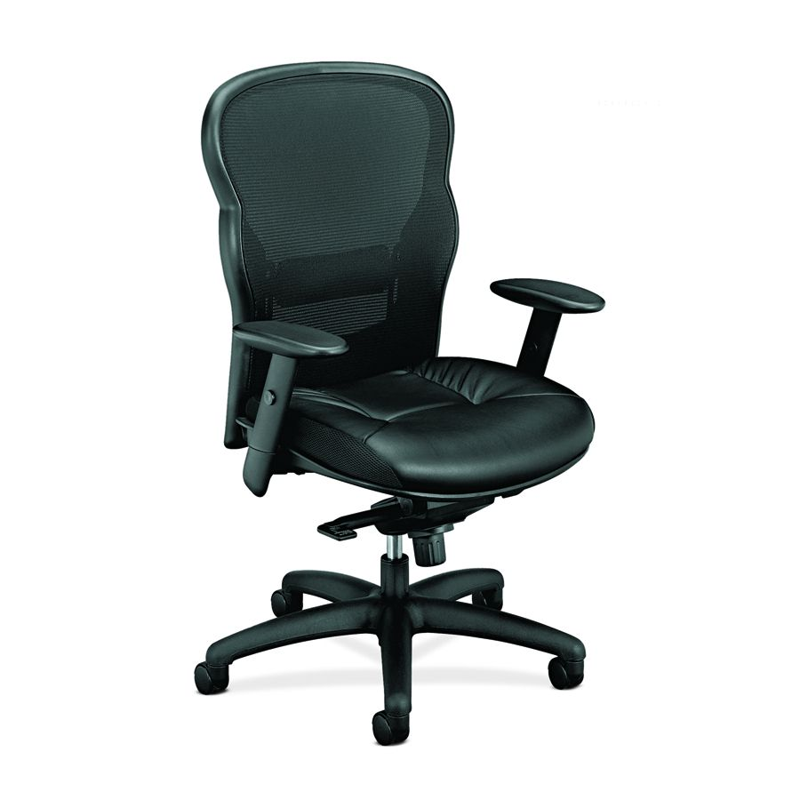 Basyx Executive Leather Chair - Lthr, Hi Bk, Bk, Each - Model VL701ST11