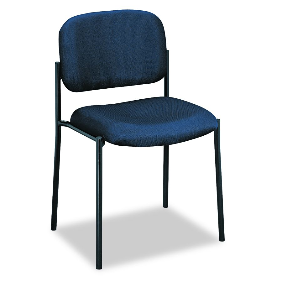 Basyx Guest Armless Chair - Blue, 19