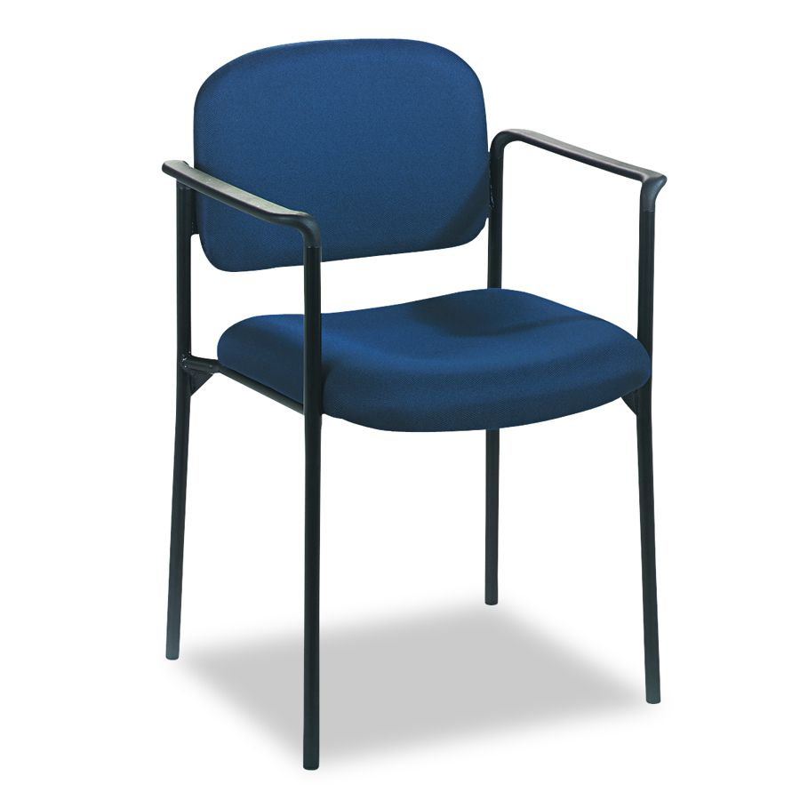 Basyx Guest Chair - Arms, Blue, Each - Model VL616VA90