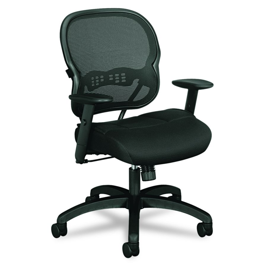 Basyx Mesh Chair - Midbck, Mesh Seat, Bk, Each - Model VL712MM10