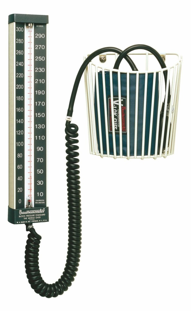 Baumanometer Blood Pressure Wall Unit 34 Monitor