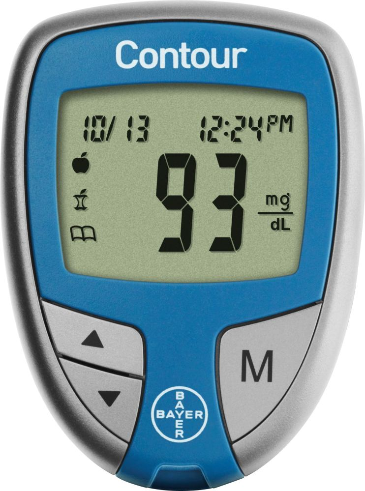 Bayer Contour Glucose Meter - System, Glucose Monitoring, 1/, Each - Model 9556