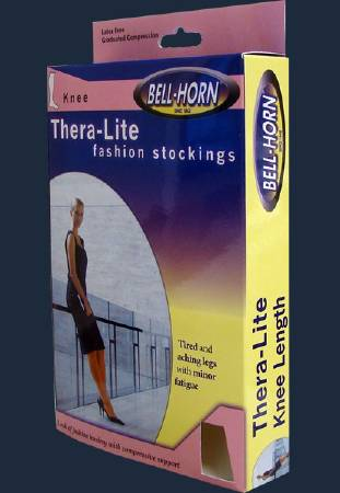 DJO Thera-Lite Compression Stockings, Knee-high Medium Beige Closed Toe - Model 11900M