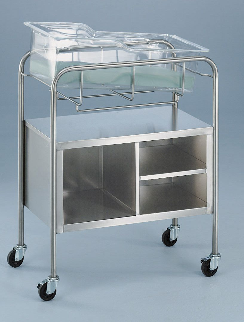 Blickman Health Bassinets/Component - w/ Open Cabinet, Each - Model 1118049000