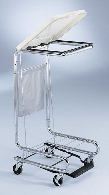 Blickman Health Chrome Hamper Stand - Lid, Foot Pedal, 18 5/8X19.5, Standard, Each - Model 962010000