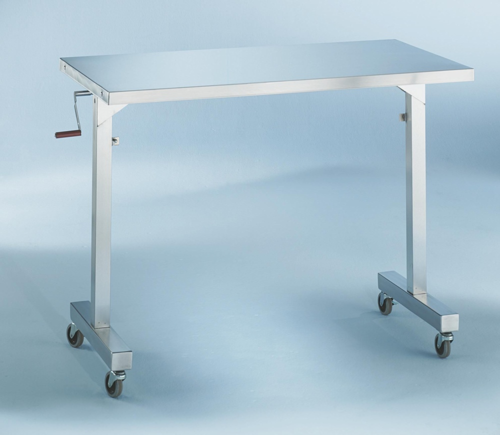Blickman Health Stainless Steel Instrument Table - Adj Hgt 20