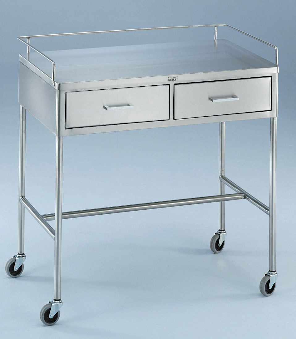 Blickman Health Stainless Steel Utility Table - 2-Drawer, 36X20X34, Each - Model 317856000