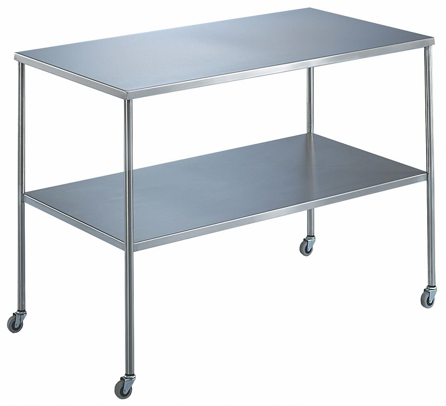 Blickman Instrument Tables with Shelf - w/ Shelf, 30X16X34, Each - Model 117829000