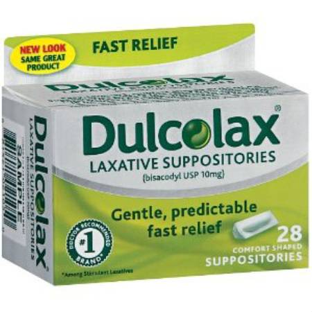 Boehringer Ingelheim Dulcolax Laxative, Suppository 24 per Box - Model 50001300