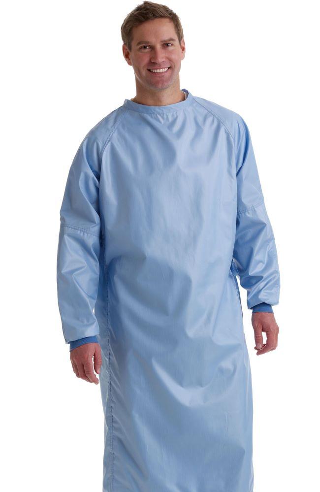 Medline Surgical Cover Gown - Misty, Large, Each - Model 68675NTZL