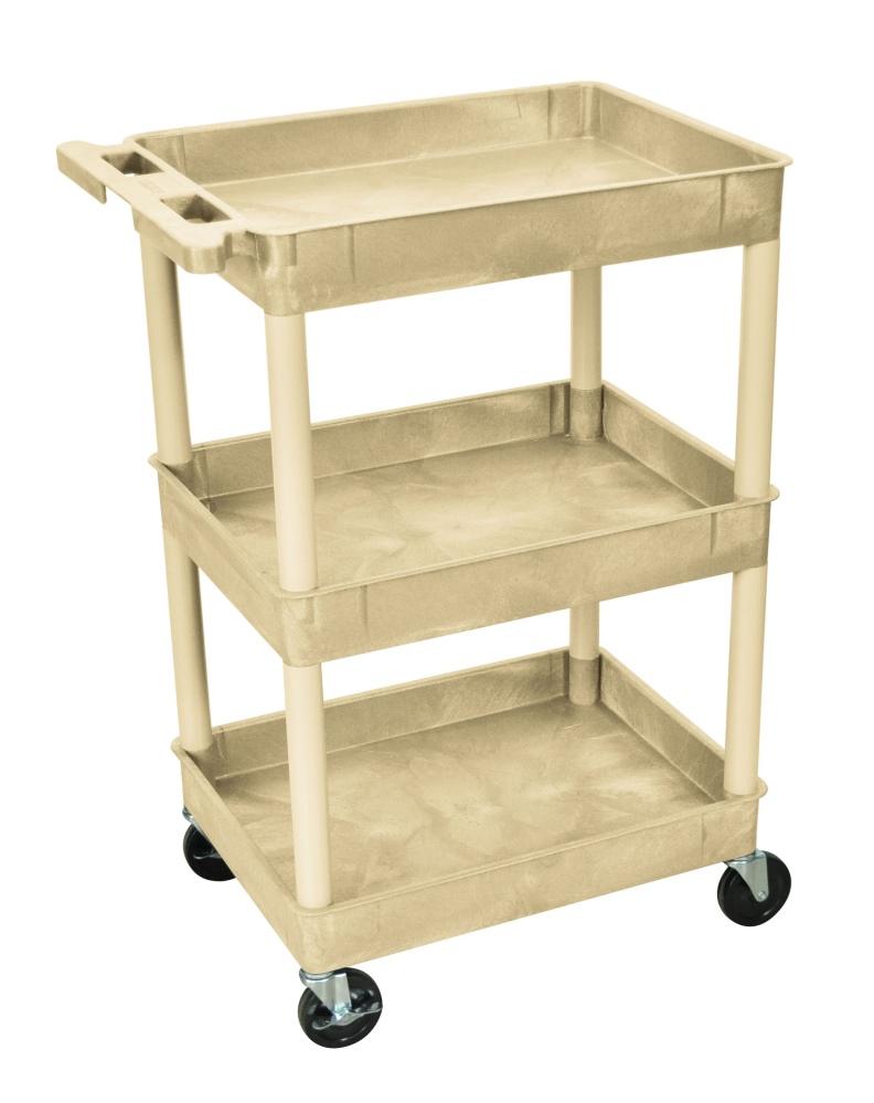 Medline 3-Shelf Tub Cart - Cart 3 Shelf, 24\