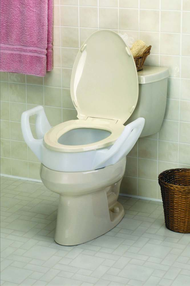 Tremendous Medline Maddak Elongated Raised Toilet Seat Elev Bolt On W Arm Each Model Mds80322E Pdpeps Interior Chair Design Pdpepsorg