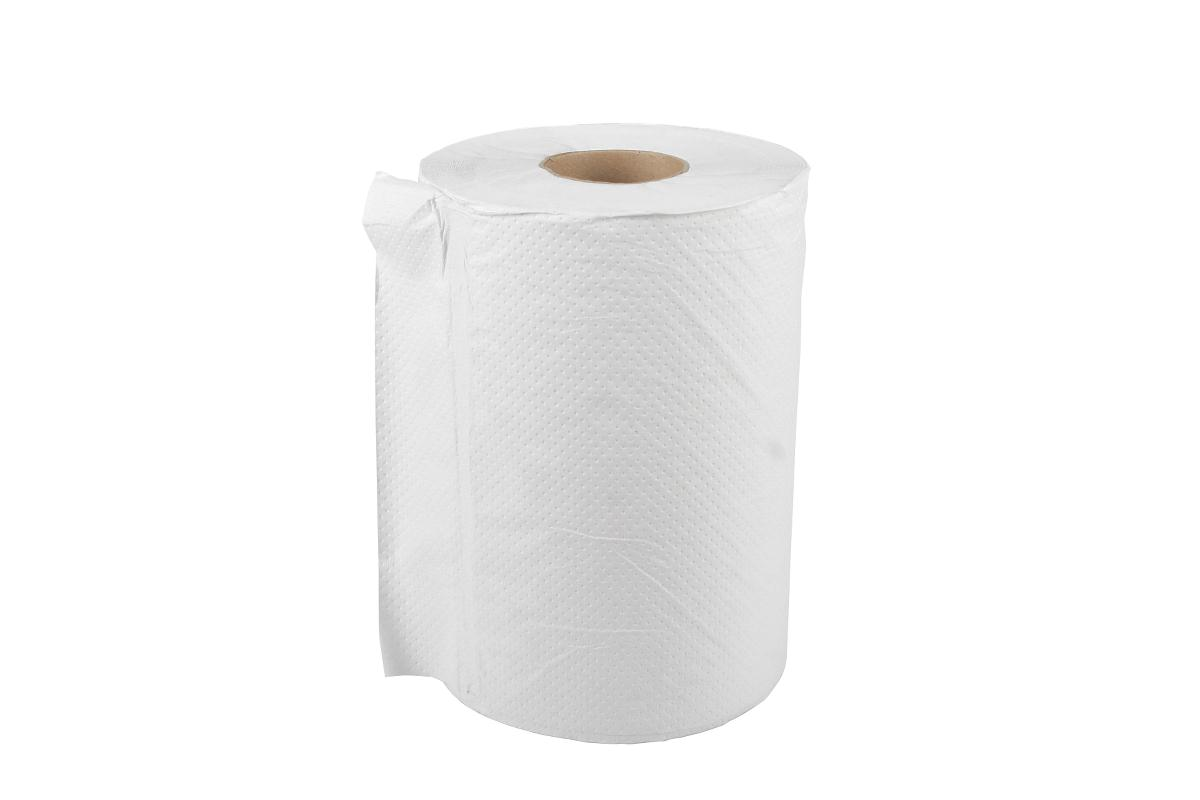 Medline Standard Roll Towel - Paper, 1Ply, 7.87X350', Bleached, Box of 12 - Model NONPBM350
