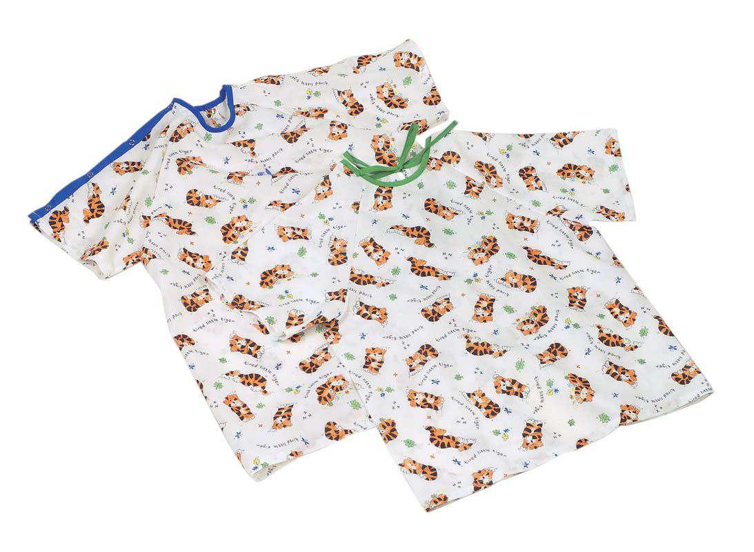 Medline Tired Tiger Print Pediatric IV Gown - Snap Slv, X-Sml, Box ...