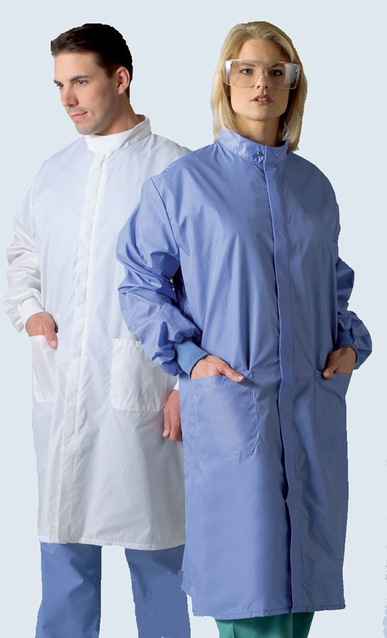 Medline Unisex ASEP A/S Barrier Lab Coat - Wht, A/Sbarrier, Xs, Each - Model 6620BLHXS