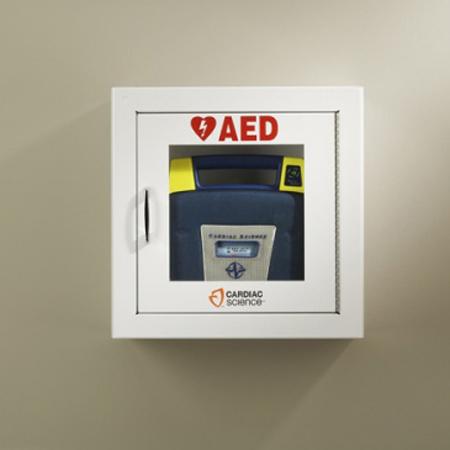 Cardiac Science Inc Powerheart AED Surface-Mount AED Wall Cabinet - Model 50-00392-20, Each