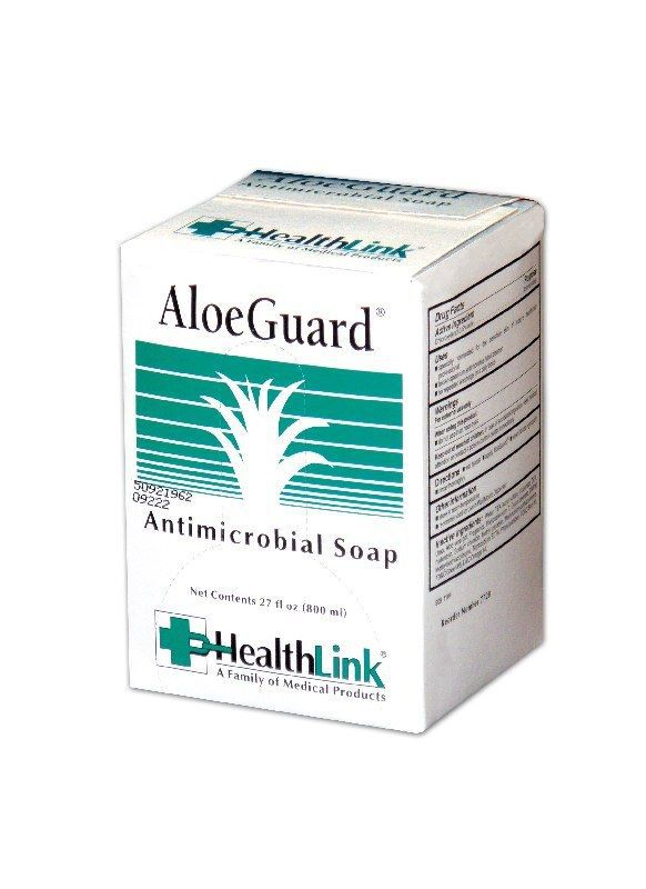 Cardinal Health AloeGuard Antimicrobial Soap - Antimic .5% Pcmx, 800Ml, Box of 12 - Model 7720HL