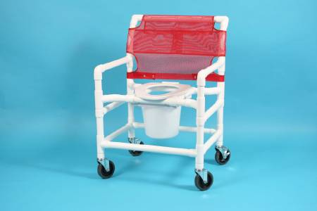 Care Product Deluxe Shower Chair, Removable Back 21 Inch, Red, Each - Model 520XW