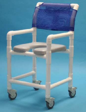 Care Product Deluxe Shower Chair, With Backrest 20 Inch, Gray, Each - Model 520SX