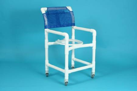 Care Product Deluxe Shower Chair, With Backrest 20 Inch, Peacock, Each - Model 520SX