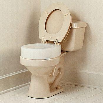 Carex Elevated Toilet Seat Standard 13 1 4 W X 17 3 8 L X 3 1 2