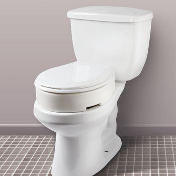 Carex Hinged Raised Toilet Riser Elongated Item 081597764