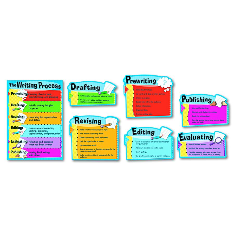writing process chart Tcr7639 - writing process chart, convenient, useful learning tools that decorate  as they educate each chart measures 17 by 22 related lessons and activit.