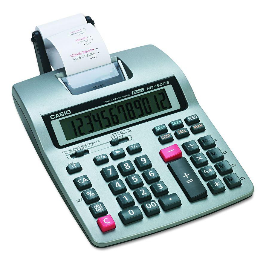 Casio Enterprises Printing Desktop Calculator Sr Each Model Hr150tm