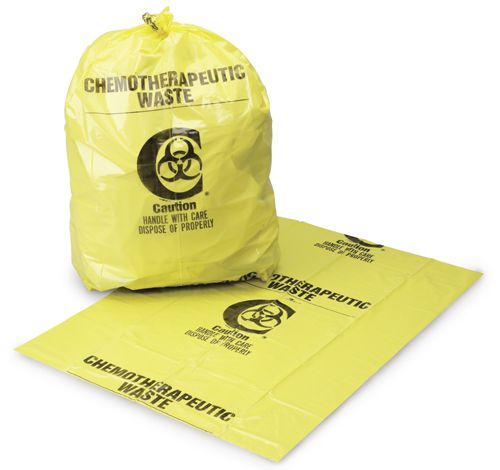 Chemotherapy Waste Bag - Chemotherapy Waste 30X43, 3Mil, Yellow, Box of 100 - Model 4210