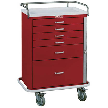 Harloff Classic Line 6-Drawer Tall Emergency Cart - Standard Package - Model 6400, Each