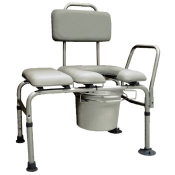 Combination Padded Transfer Bench/Commode - Item #565985