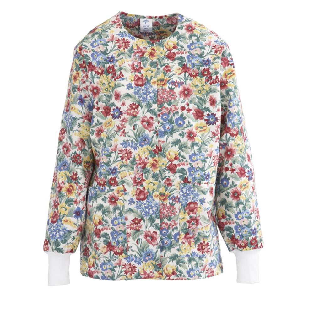 ComfortEase Ladies Jewel Neck Warm-Up Scrub Jacket ...
