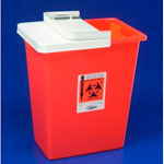 Large Volume Containers with Hinged and Sealing Gasket Lid, 30 Gallom, Red - Model 8930SA, Each