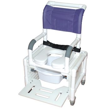 Deluxe Adjustable Shower and Commode Chair - Rio for adults - Item #081568997