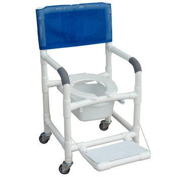 Deluxe Wheeled Shower/Commode Chair w/ 5