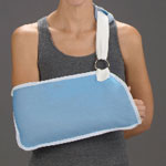 DeRoyal Industries Arm Sling Canvas, Child, Light Blue, Each